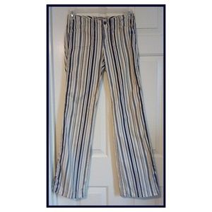 Vtg 90s EXPRESS Low Rise Flares Beachy Stripes 1/2